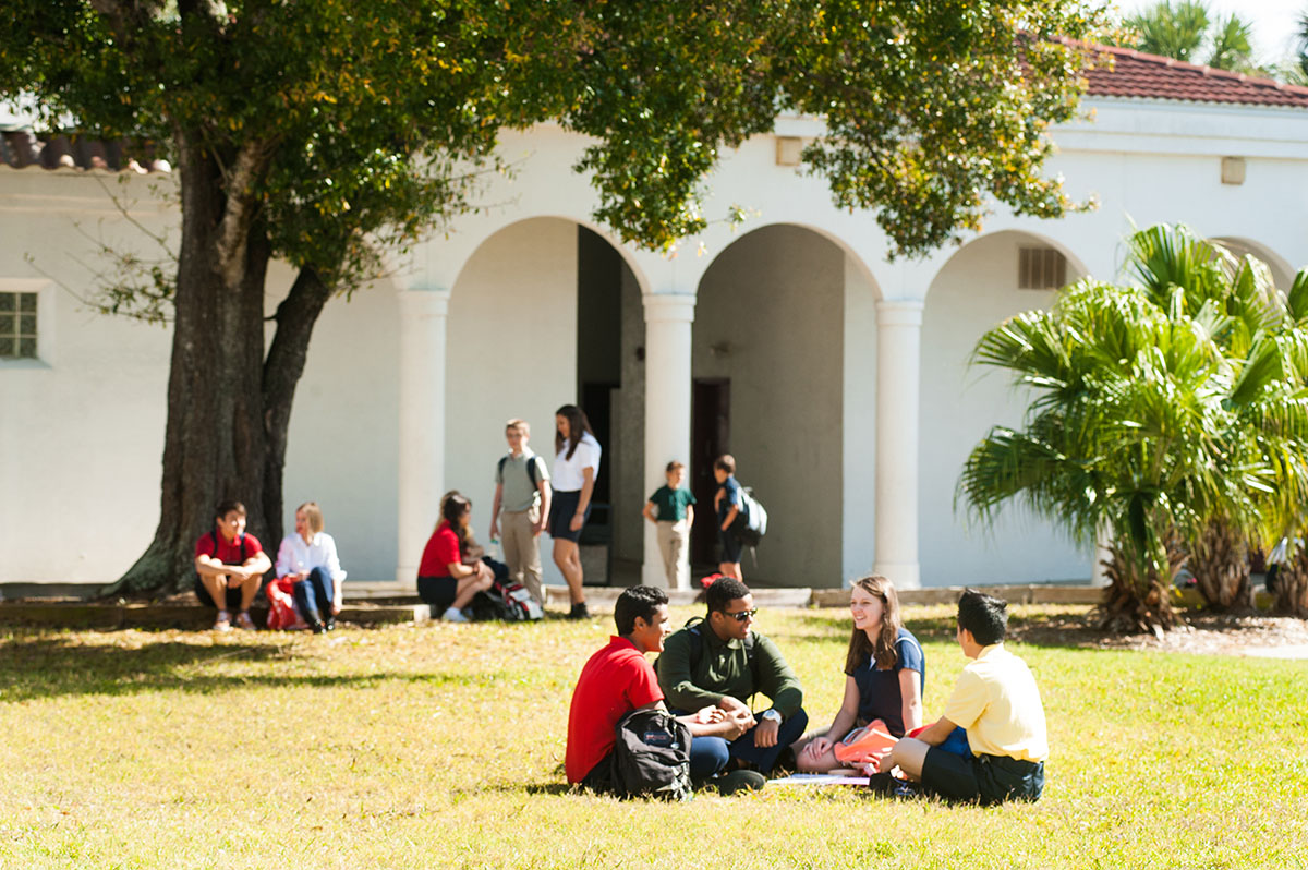 Students Gather On The Lawns